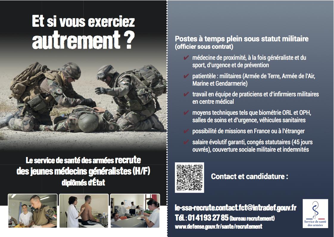 Recrutement Service de Santé des Armées