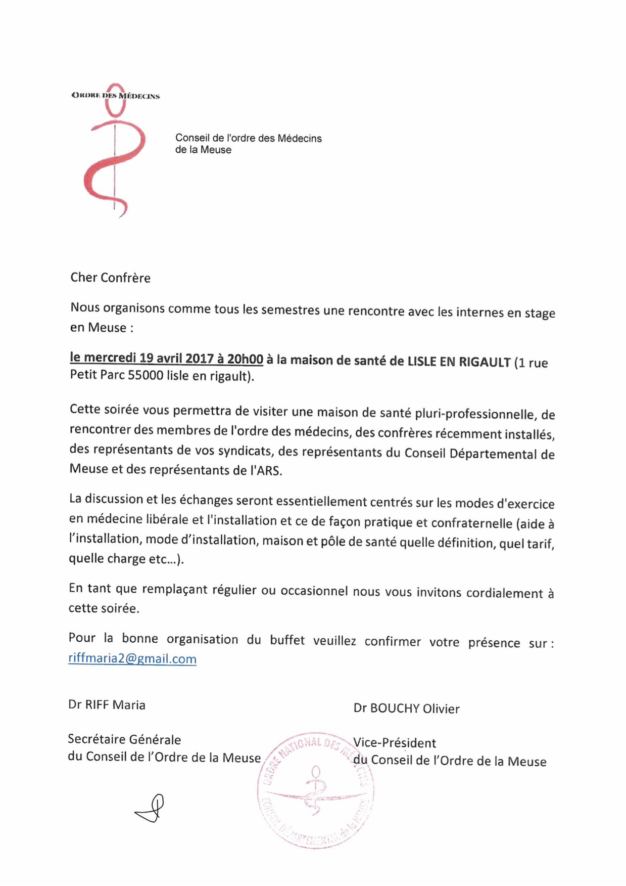 Invitation à la réunion avec les internes de MG du sud-meusien - mercredi 19.04.2017 à 20h à la MSP de LISLE EN RIGAULT-2